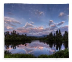 Great North Woods Sunset In New Hampshire Fleece Blanket