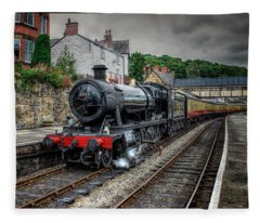 Great Western Locomotive Fleece Blanket
