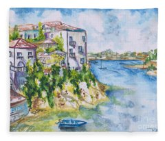 Greek Playground  Fleece Blanket
