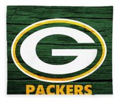 Green Bay Packers Barn Door Fleece Blanket