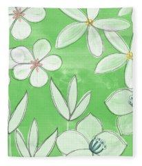 Green Garden Fleece Blanket
