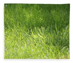 Green Grass Fleece Blanket