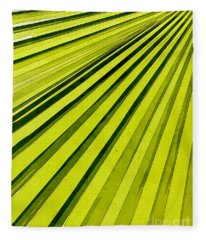 Green Palm Frond Fleece Blanket