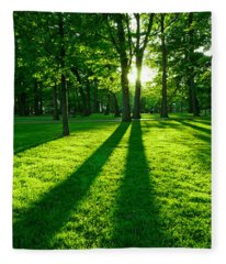 Beautiful Park Photographs Fleece Blankets