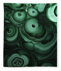 Green Patterns Of Malachite Fleece Blanket