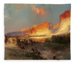 Green River Cliffs Wyoming Fleece Blanket