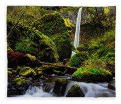 Green Seasons Fleece Blanket