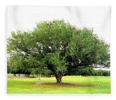 Green Tree Fleece Blanket
