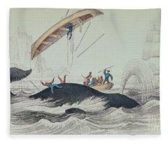 Seascape Drawings Fleece Blankets