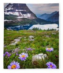 Hidden Lake Flowers Fleece Blanket
