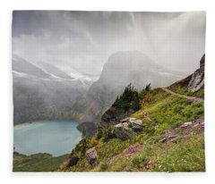 Grinnell Glacier Trail Fleece Blanket