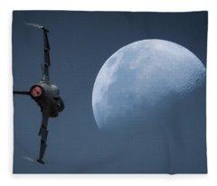 Gripen Moon Fleece Blanket