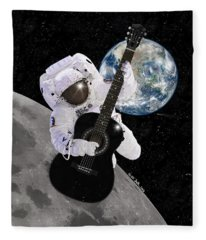 Ground Control To Major Tom Fleece Blanket