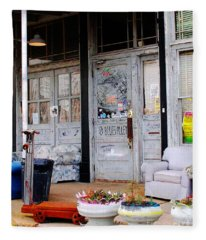 Ground Zero Clarksdale Mississippi Fleece Blanket