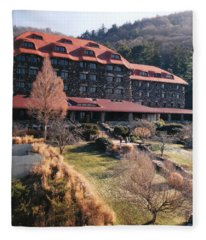 Grove Park Inn In Early Winter Fleece Blanket