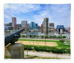 Guarding Baltimore Fleece Blanket