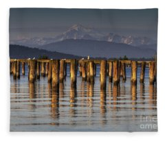 Guemes Channel Trail View Fleece Blanket