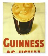 Guinness As Usual Fleece Blanket