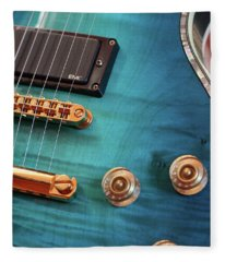 Guitar Blues Fleece Blanket