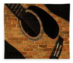 Guitar Shadow Fleece Blanket