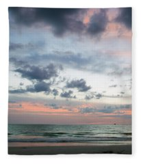 Gulf Of Mexico Sunset Fleece Blanket