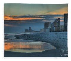 Gulf State Park Sunset Fleece Blanket