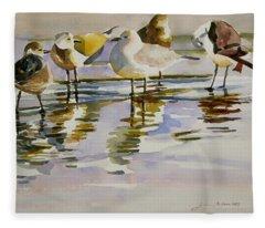 Gull Family Fleece Blanket