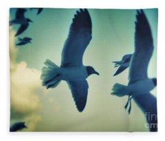 Gulls Fleece Blanket