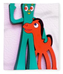 Gumby And Pokey B F F Fleece Blanket