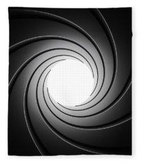 Gun Barrel From Inside Fleece Blanket