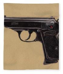 Gun - Pistol - Walther Ppk Fleece Blanket