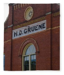 H D Gruene Fleece Blanket