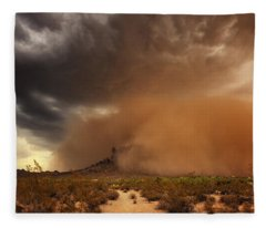 Haboob Is Coming Fleece Blanket