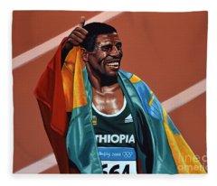 Haile Gebrselassie Fleece Blanket
