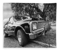 Halcyon Days - 1971 Chevy Pickup Bw Fleece Blanket
