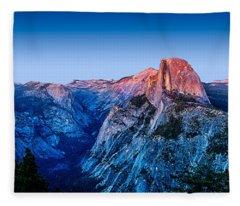 Half Dome Twilight Fleece Blanket