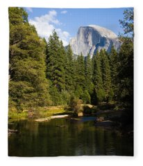 Half Dome Yosemite National Park Fleece Blanket