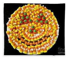 Halloween Candy Fleece Blanket