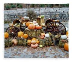 Halloween Pumpkins Fleece Blanket