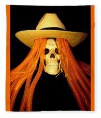 Halloween Skull Border Fleece Blanket