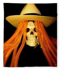 Halloween Skull Fleece Blanket