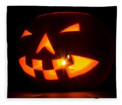 Halloween - Smiling Jack O' Lantern Fleece Blanket