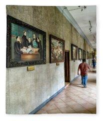 Hallway Of Paintings Fleece Blanket