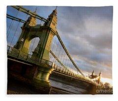 Hammersmith Bridge In London Fleece Blanket