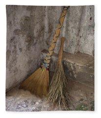Hand Made Brooms At Shwe Yan Pyay Fleece Blanket