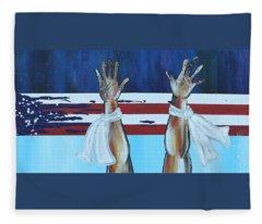 Hands Up Dont Shoot Fleece Blanket