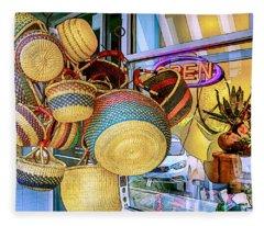Hanging Baskets Fleece Blanket