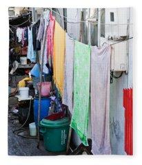 Hanging Towels Fleece Blanket
