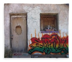 Hangman's House Homage Pima Indian Shrine Sacaton Az 2005-2009 Fleece Blanket