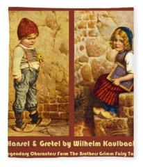 Hansel And Gretel Brothers Grimm Fleece Blanket